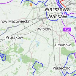 Mapa Polski Wyznaczanie Tras Pieszych I Rowerowych