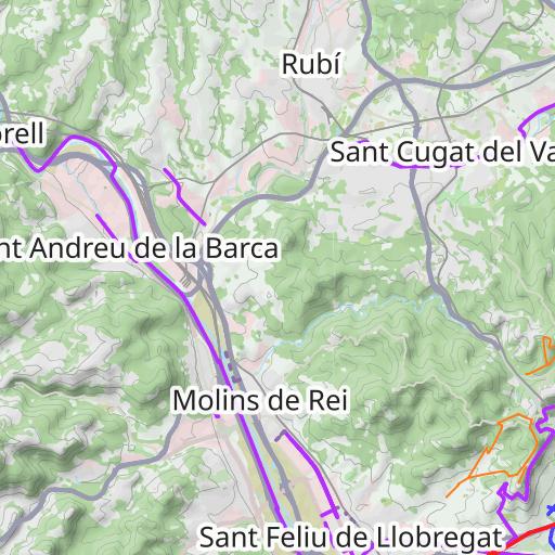 Mapa Carril Bici Barcelona.Plano De Carril Bici En Barcelona