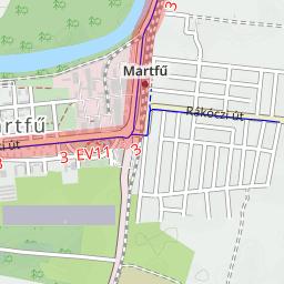 martfű térkép Martfű Magyarország kerékpárút térkép martfű térkép