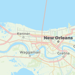 New Orleans Louisiana USA Offline Map For IPhone IPad IPod - Usa map new orleans